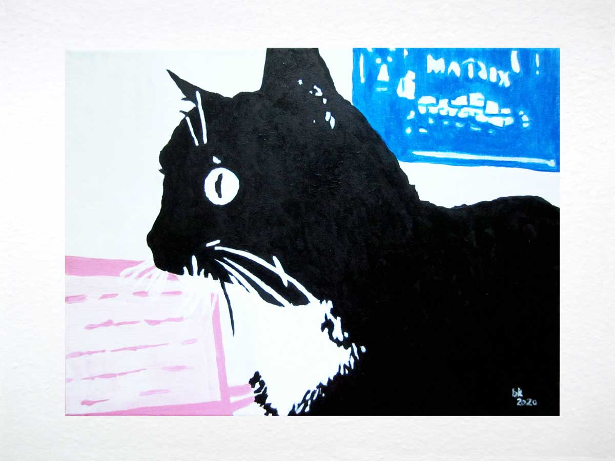 Luzi Kunst: Luzi Matrix, Acryl auf Leinwand, 40x30