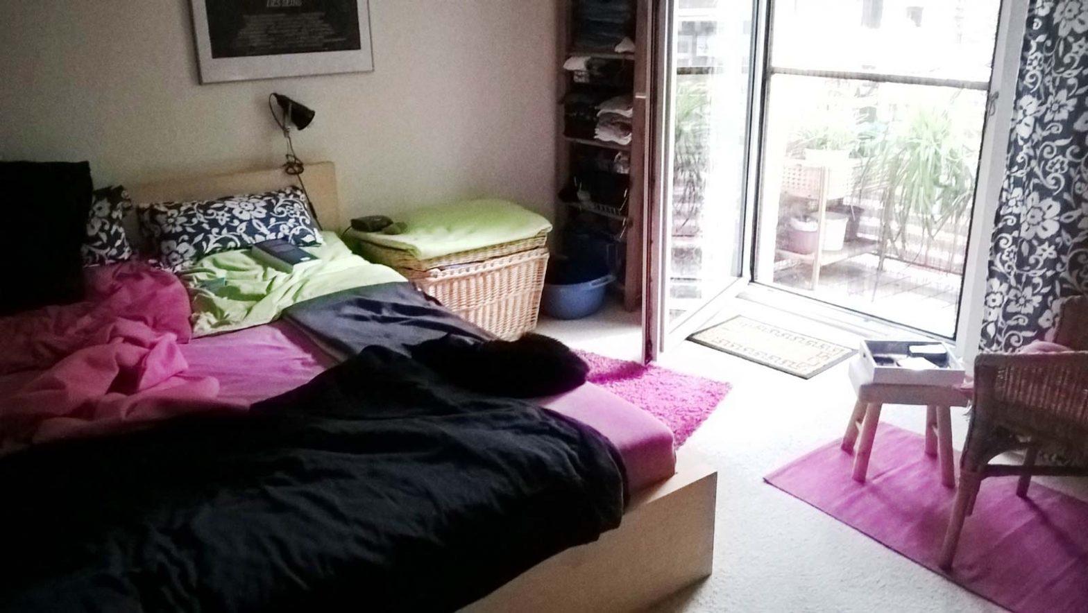 Blick ins Schlafzimmer, in dem sich Luzi befinden müsste. Nur wo ist sie?