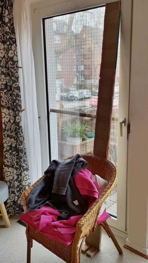 Luzis Rampe als Sicherung für die kaputte Balkontür